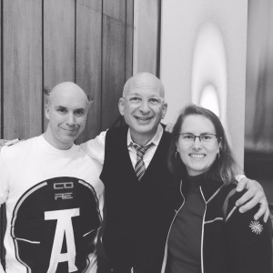 My dear friend Michael Sillion, Seth himself, and yours truly at #SethinLondon, November 2015
